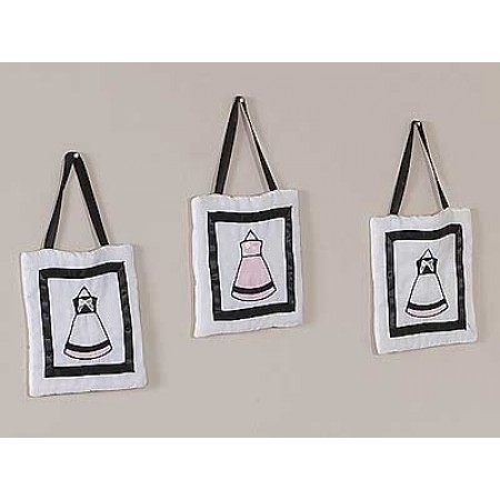 Princess Black, White and Pink Wall Hanging