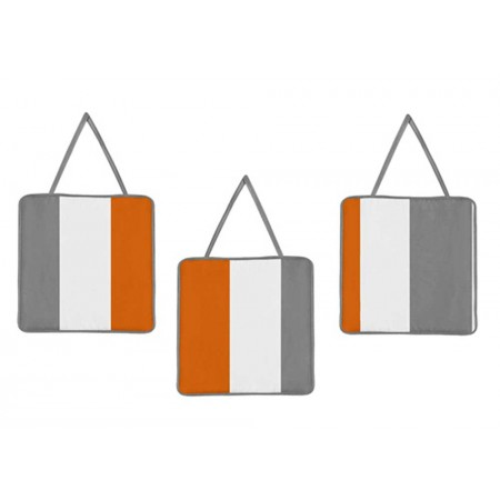 Gray & Orange Stripe Wall Hanging