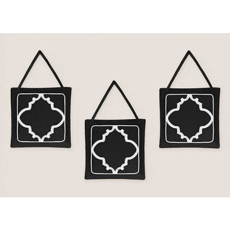 Black & White Trellis Wall Hanging