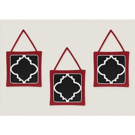 Red & Black Trellis Wall Hanging