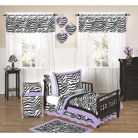 Purple Zebra Toddler Bedding Set By Sweet Jojo Designs