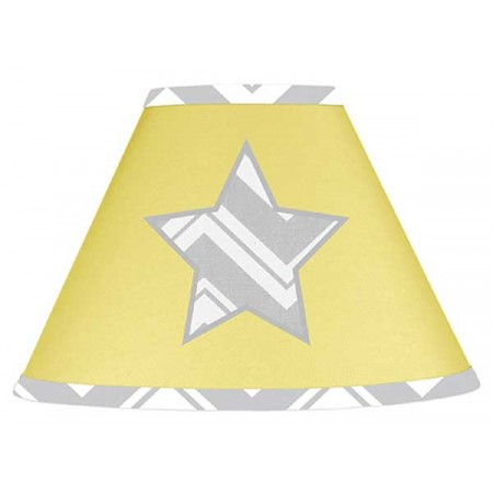 Zig Zag Yellow & Gray Chevron Print Lamp Shade