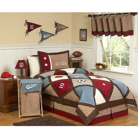 All Star Sports Bedding Set - 4 Piece Twin Size By Sweet Jojo Designs