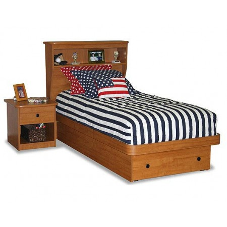 Navy Blue & White Striped Twin Size Bunkbed Hugger - Includes Tailored Sham - Clearance