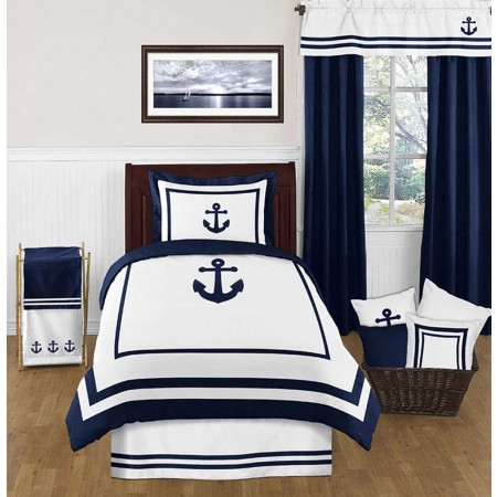 Anchors Away Bedding Set - 4 Piece Twin Size by Sweet Jojo Designs