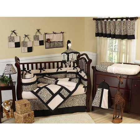 Animal Safari Crib Bedding Set by Sweet Jojo Designs - 9 piece