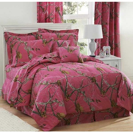 AP Fuchsia Camouflage Comforter Set - Queen Size