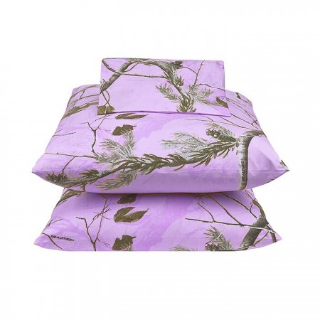 AP Lavender Camouflage Sheet Set - Queen Size