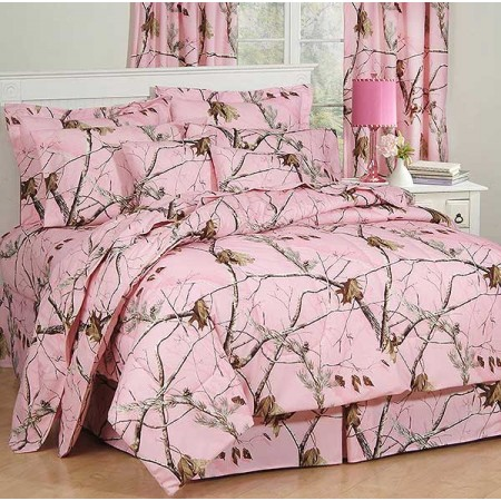 AP Pink Camo Comforter Set  Twin Size Camouflage Bedding Comforters Discount Sets