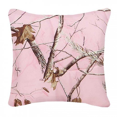 AP Pink Camo Square Pillow