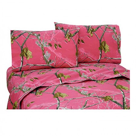 AP Fuchsia Camouflage Sheet Set - Queen Size