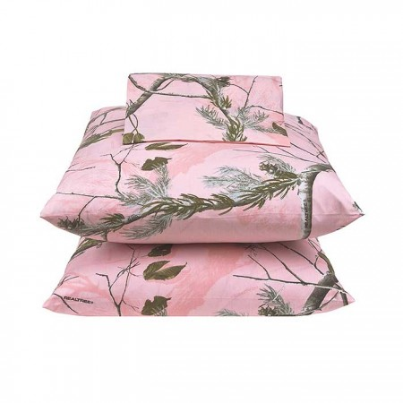 AP Pink Camo Sheet Set - Queen Size