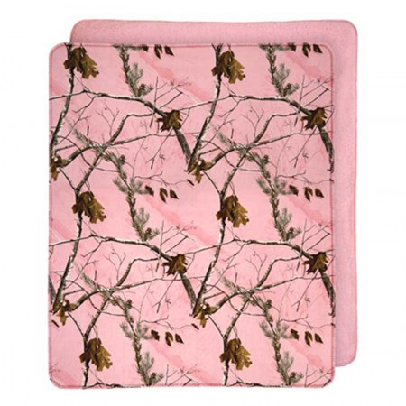 AP Pink Camo Throw Blanket
