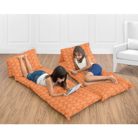 Arrow Orange and Navy Pillow Case Lounger