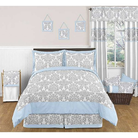Avery Blue Comforter Set - 3 Piece Full/Queen Size By Sweet Jojo Designs