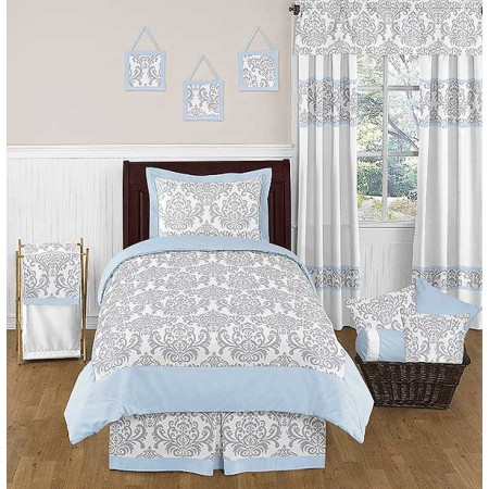 Avery Blue Bedding Set - 4 Piece Twin Size By Sweet Jojo Designs