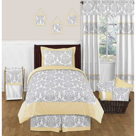 Avery Yellow Bedding Set - 4 Piece Twin Size By Sweet Jojo Designs