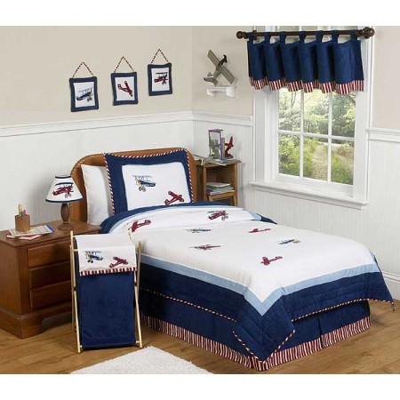 Aviator Bedding Set - 4 Piece Twin Size By Sweet Jojo Designs