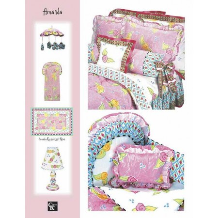 Amanda Print Top Sheet - Crib Size