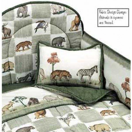 Animal Kingdom 4 Piece Standard Crib Bedding Set by California Kids