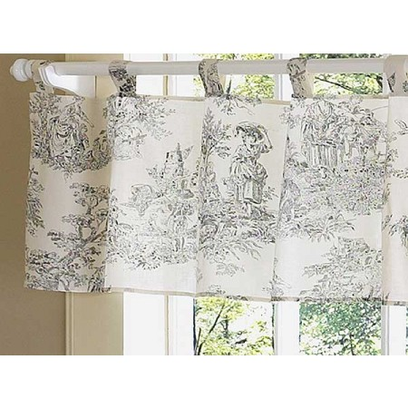 Black French Toile Valance