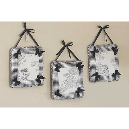 Black French Toile Wall Hanging
