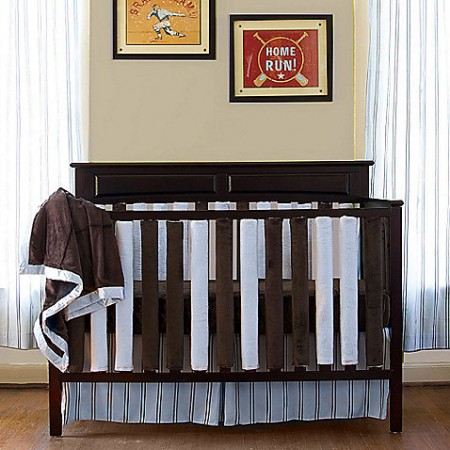 Wonder Bumper Vertical Crib Liners - Blue & Chocolate Brown - 38 Pack