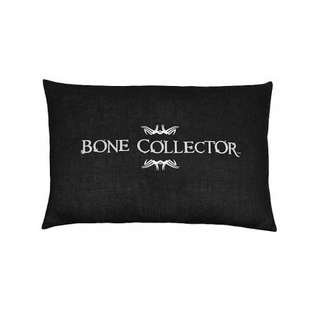 Bone Collector Black Oblong Pillow