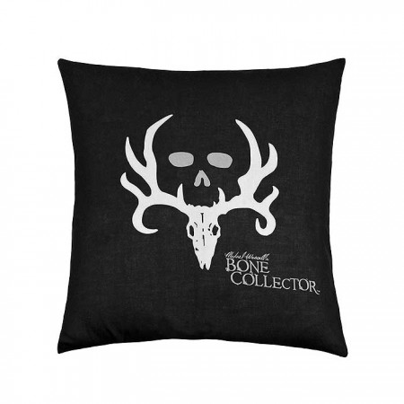 Bone Collector Black Square Pillow - 18 X 18 Black w/Grey Logo
