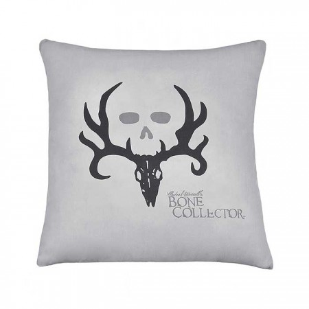 Bone Collector Black Square Pillow - Grey w/Black Logo