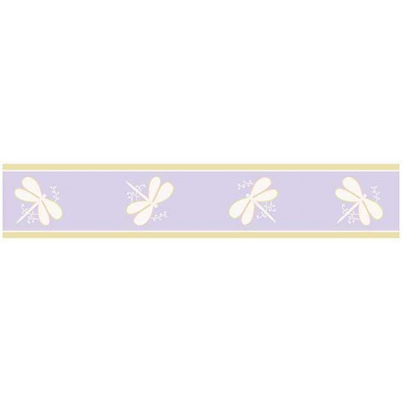 Lavender Dragonfly Dreams Wall Border