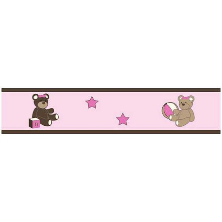 Teddy Bear Pink Border