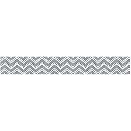 Zig Zag Black and Gray Wallpaper Border