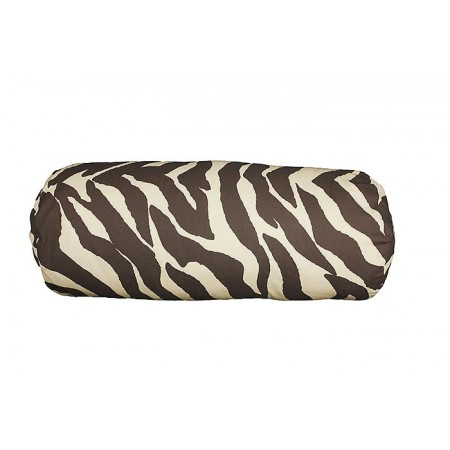 Brown Zebra Print Bolster Pillows (Pair) Clearance
