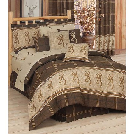 Browning Buckmark Comforter Set - California King Size