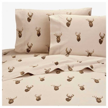 browning whitetails sheet set california king size