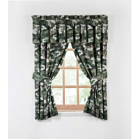 Buckmark Camo Green Curtain Panels