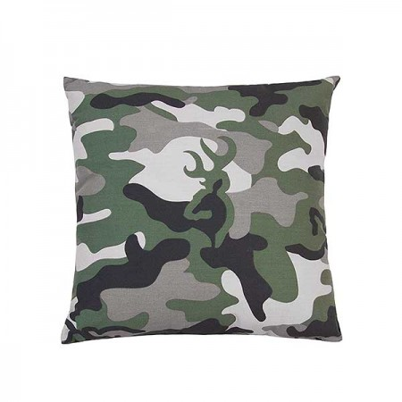 Buckmark Camo - Green Square Accent Pillow