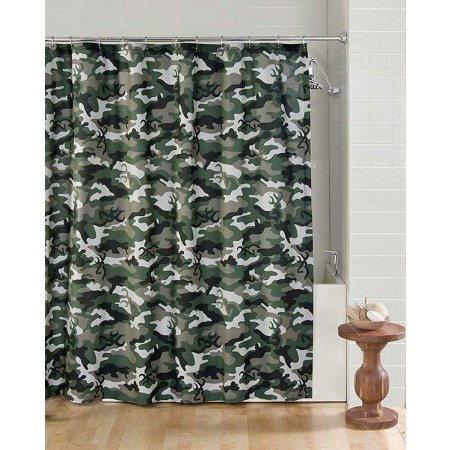 Buckmark Camo Green Shower Curtain