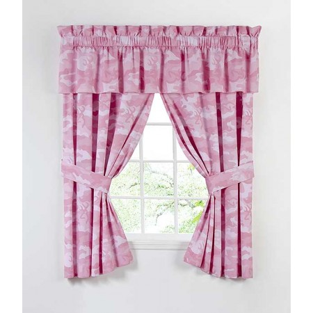 Buckmark Camo - Pink Curtain Panels