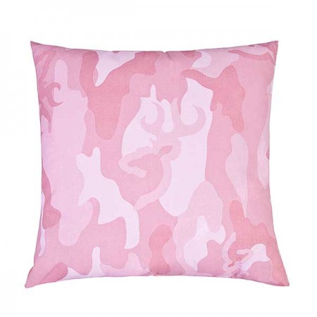 Buckmark Camo - Pink Square Accent Pillow