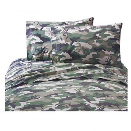 Buckmark Camo Green Sheet Set - Full Size
