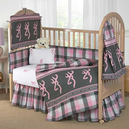 Browning Baby - Buckmark Plaid 3 Piece Crib Set
