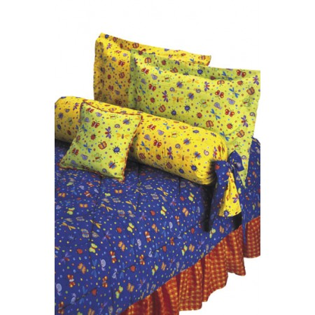 Bug Off Patchwork Quilt by California Kids - Twin Size - Clearance