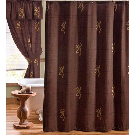 Browning Buckmark Burgundy Shower Curtain