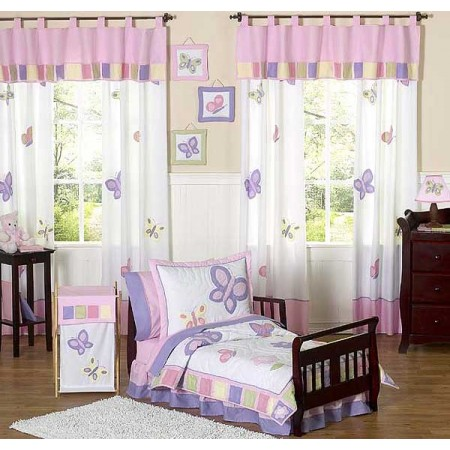 Butterfly Pink & Lavender Toddler Bedding Set By Sweet Jojo Designs