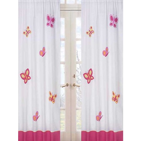 Butterfly Pink & Orange Window Panels
