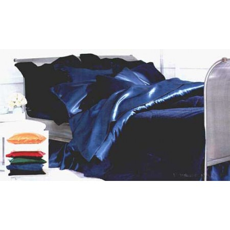 Satin California King Comforter Set - Available in 7 Colors