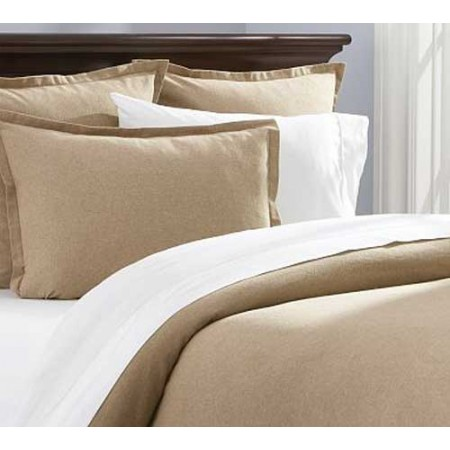 "Flannel Twin Size Bunkbed Comforter - Camel - Clearance (8"" mattress depth)"