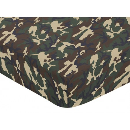 Camo Green Crib Sheet